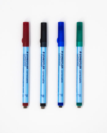 Set of 4 coloured erasable pens