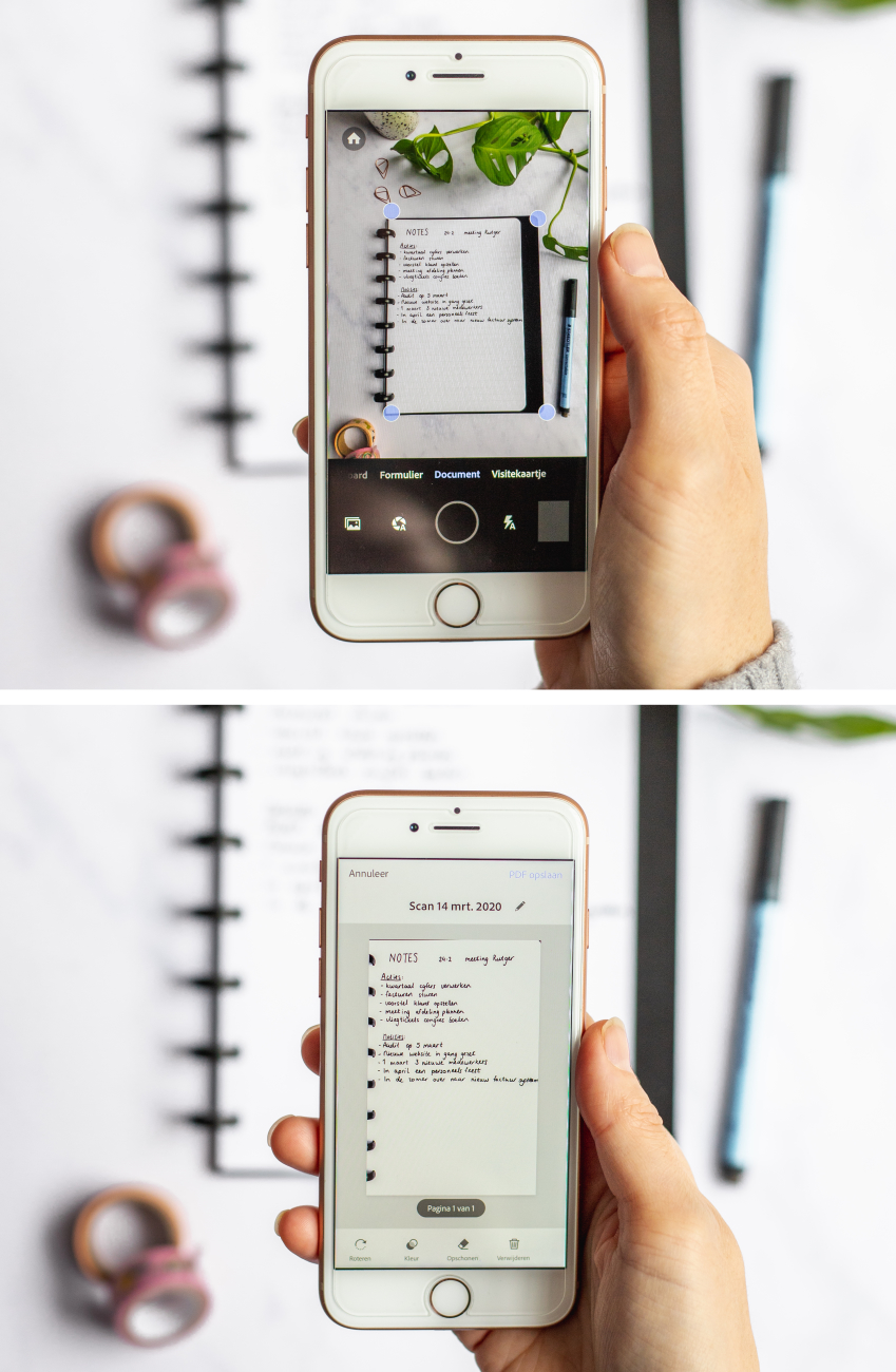 How to scan your A5 erasable whiteboard notebook with your phone
