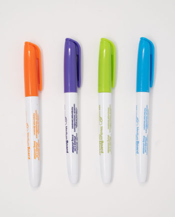 Set of 4 coloured whiteboard markers