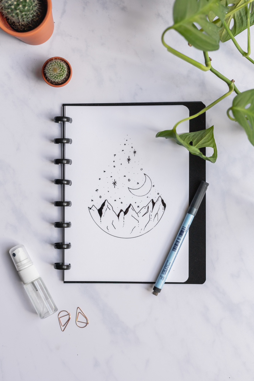 Erasable whiteboard notebook A5 plain page for your Asoki Planner