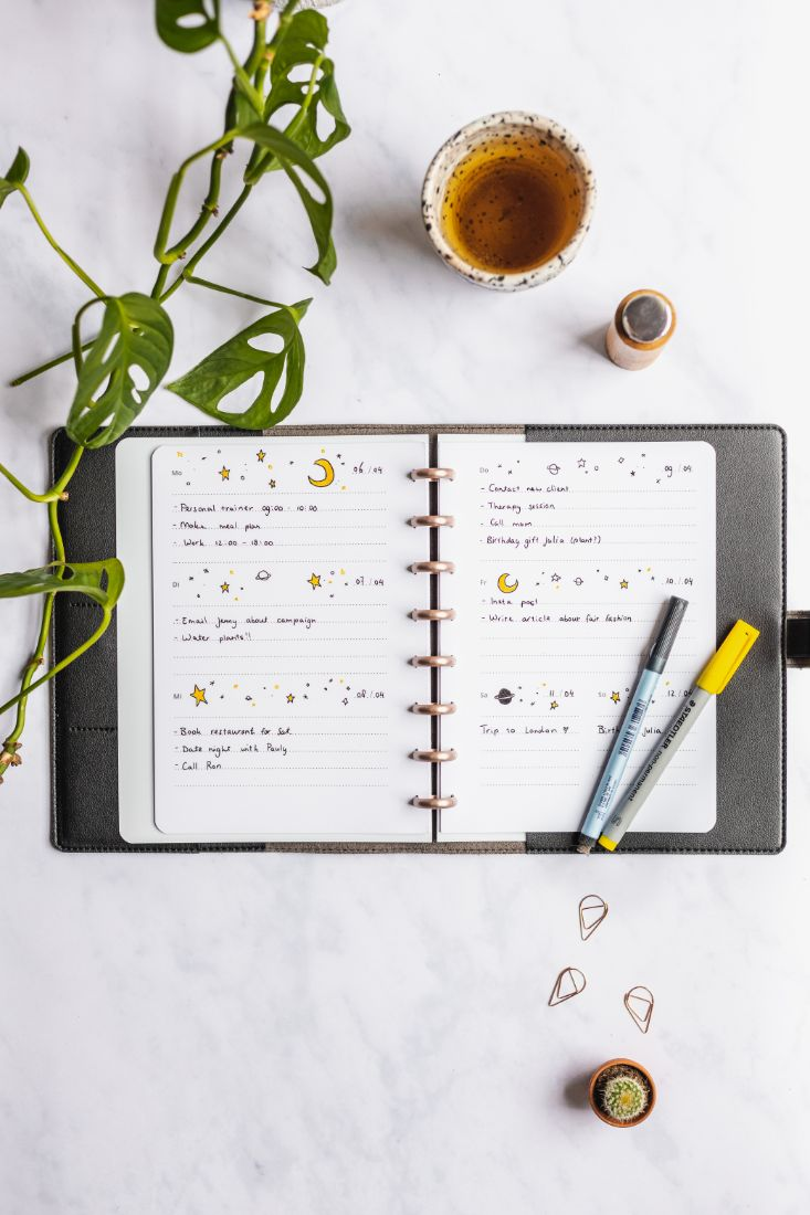 Erasable weekly planner for the zero waste Asoki Planner