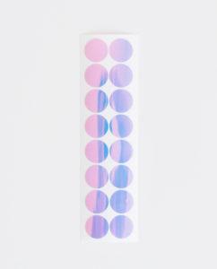 Holographic mirror sticker for discbound notebooks