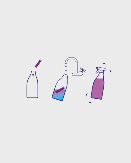 Diagram showing how to make your own cleaning spray
