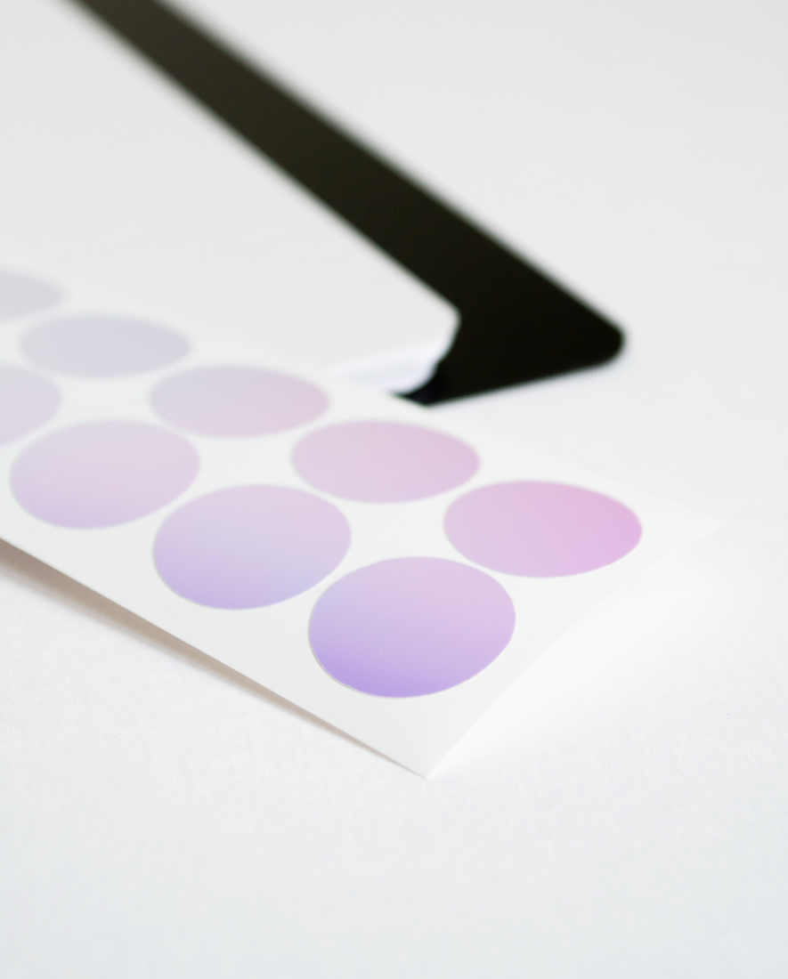 Mirror sticker for the discs of the Asoki Planner