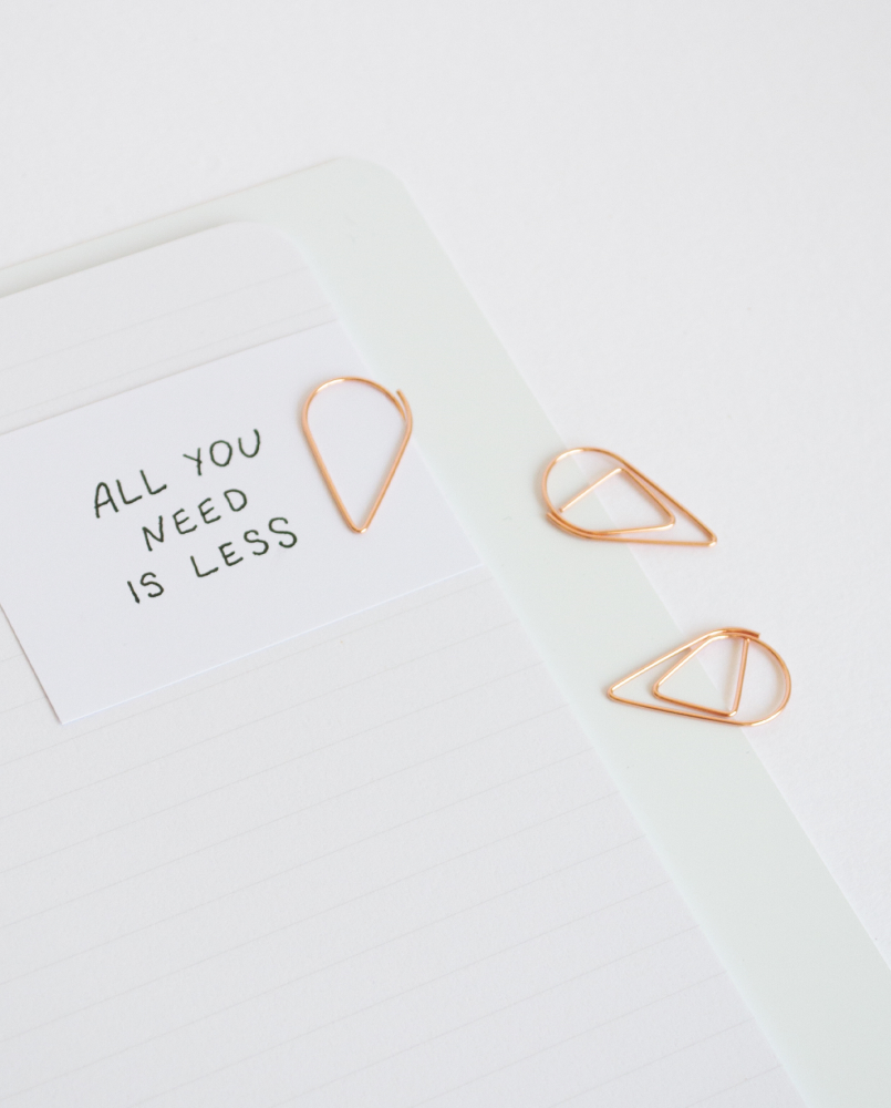 Small rose gold paperclip