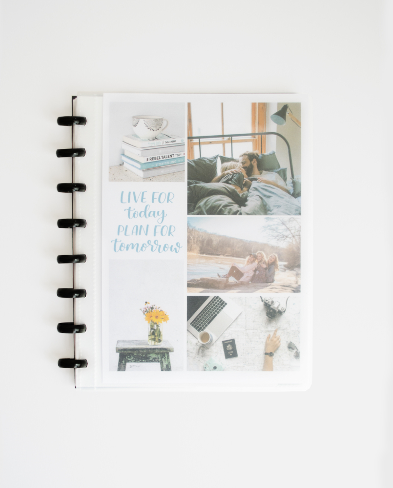 Asoki Planner with a transparent cover so you can add your own pictures