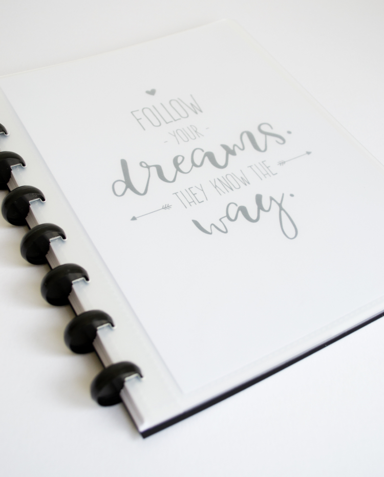 Customisable erasable whiteboard notebook add your own pictures or artwork and swap at any time