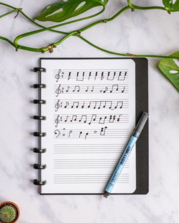 Reusable whiteboard music composing sheet pages A5 for your Asoki Planner
