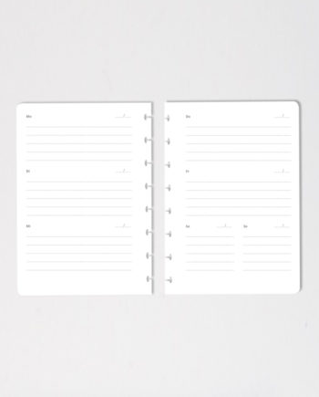 Set of erasable calendar notebook pages on grey background