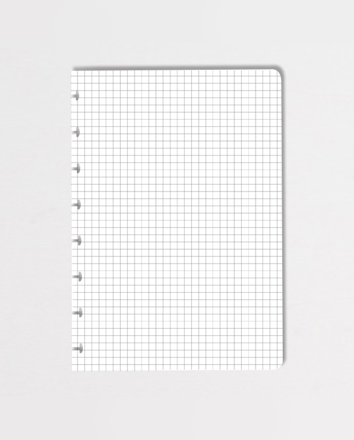 Erasable dot-grid page on grey background