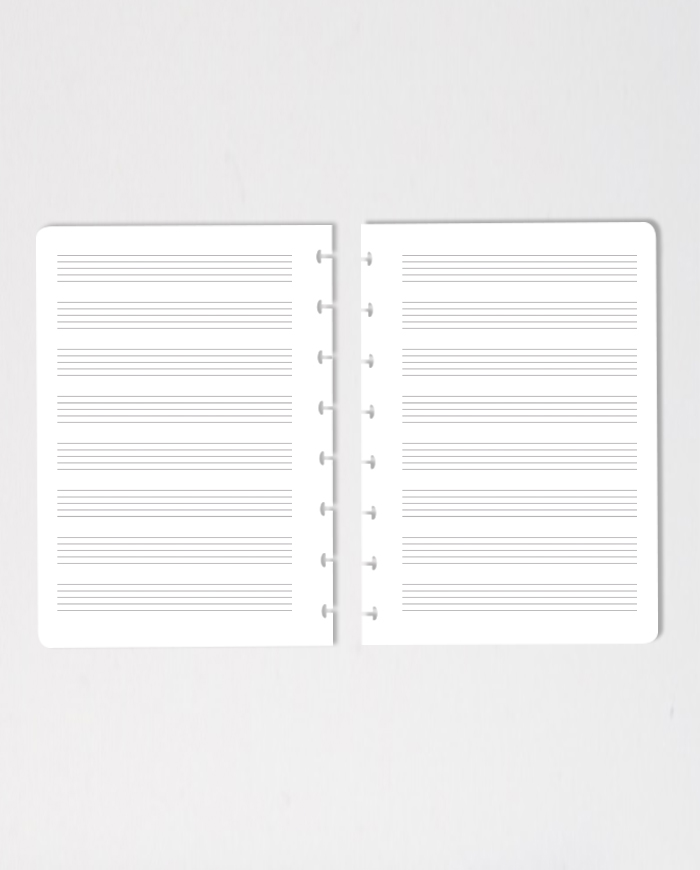 Set of two erasable music composition pages