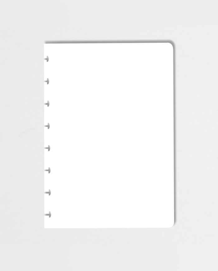 Blank erasable notebook page on grey background