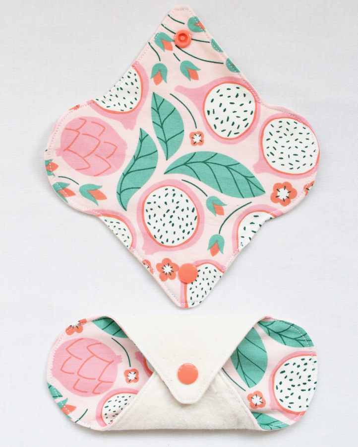 Reusable panty liner made of certified organic materials
