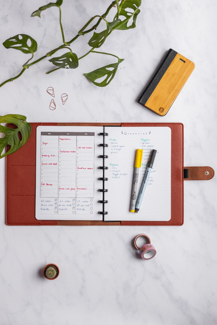 Leather-free cover with extra pockets for your Asoki Planner