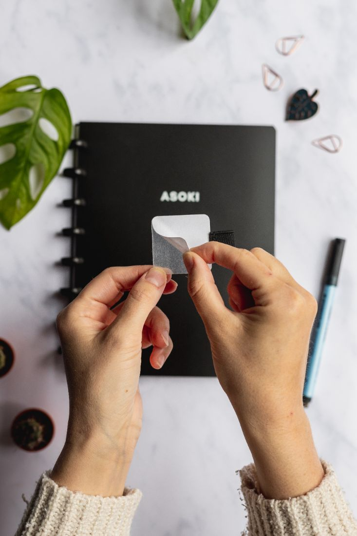 Sticky pen loop for the Asoki Planner, so you always have your pen with you