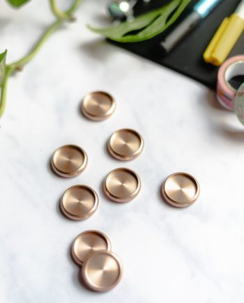 Rose gold discs for the Asoki Planner binding