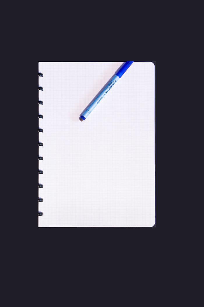 A4 reusable notebook erasable grid