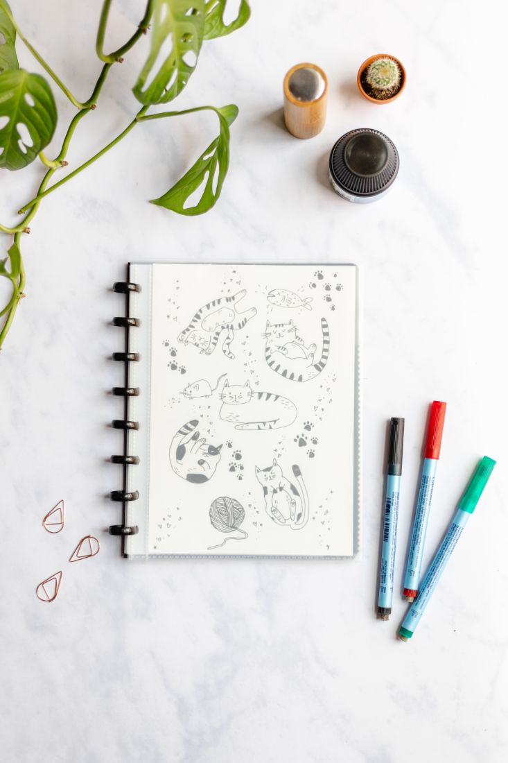 Asoki Planner with transparent cover for your own design
