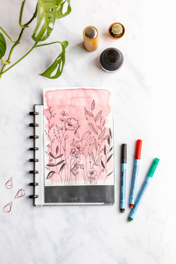 Reusable planner transparent, for own cover design
