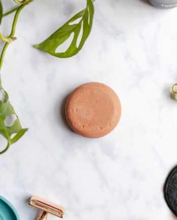 Solid shampoo bar, natural and vegan, plastic free packaged