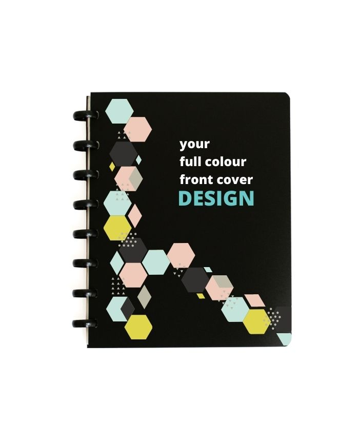 Printable and personalized notebook, color cover