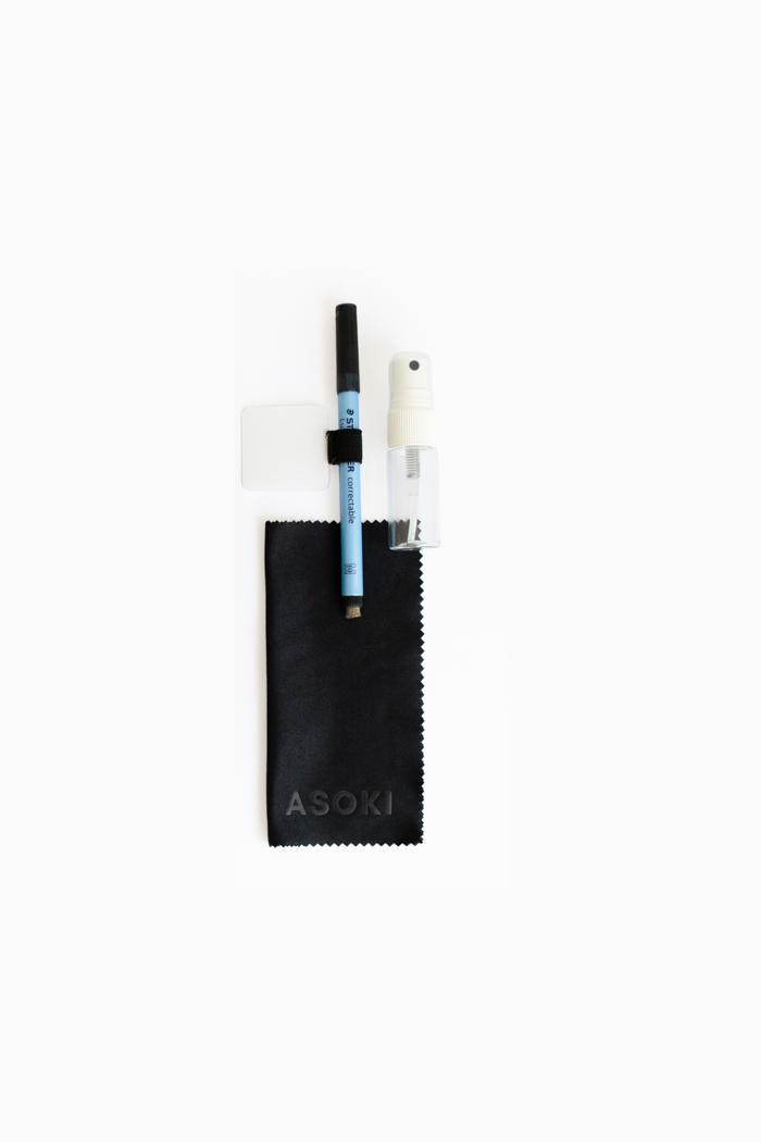 Erasable pen sticky pen loop spray bottle asoki wipe