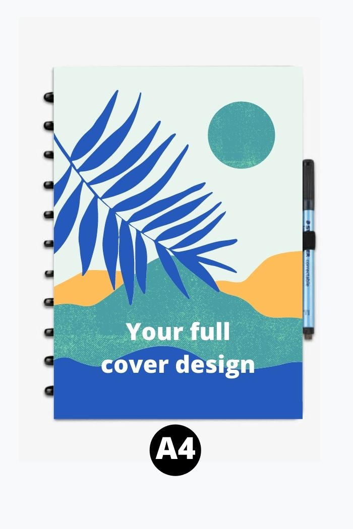 Custom printed erasable notebook A4 full cover design