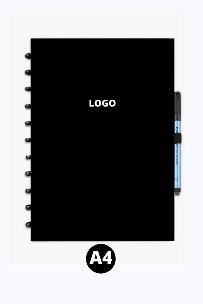 Reusable notebook A4 with logo printed